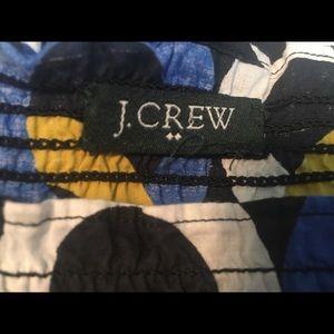 J. Crew Dresses - J CREW Chain Link Dress Blue Yellow White Black